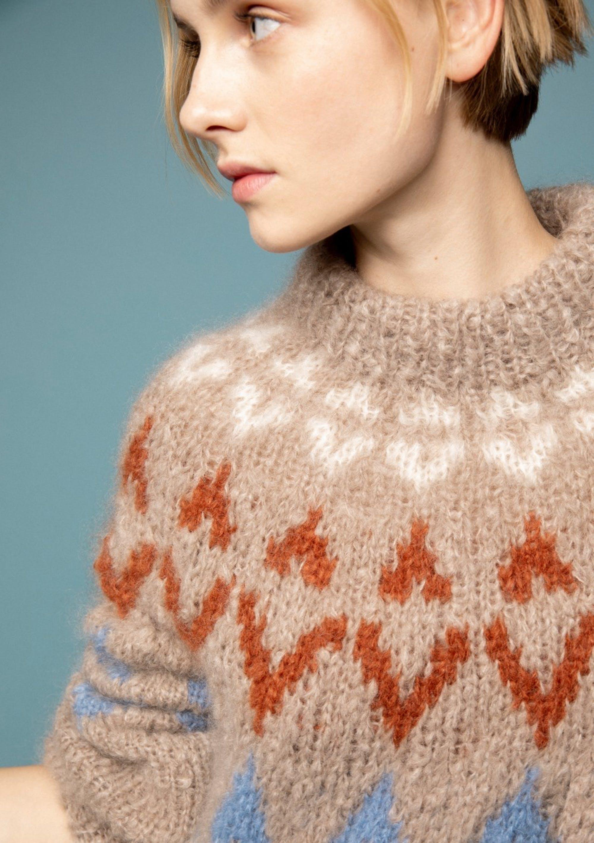 strikket genser 3 tråd rauma ull