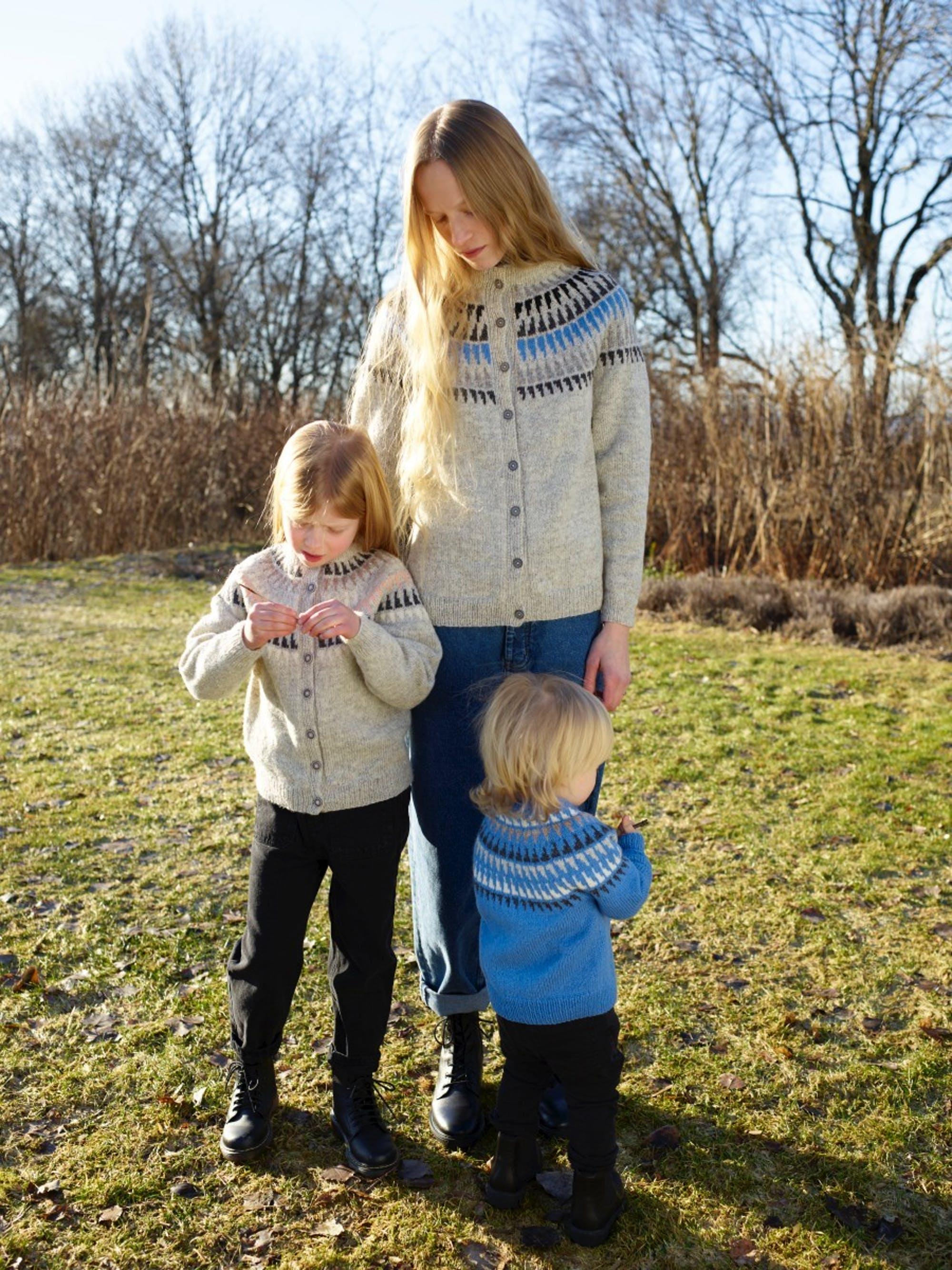 Rauma Spiret genser barn 336 1 Strikkehjørnet AS